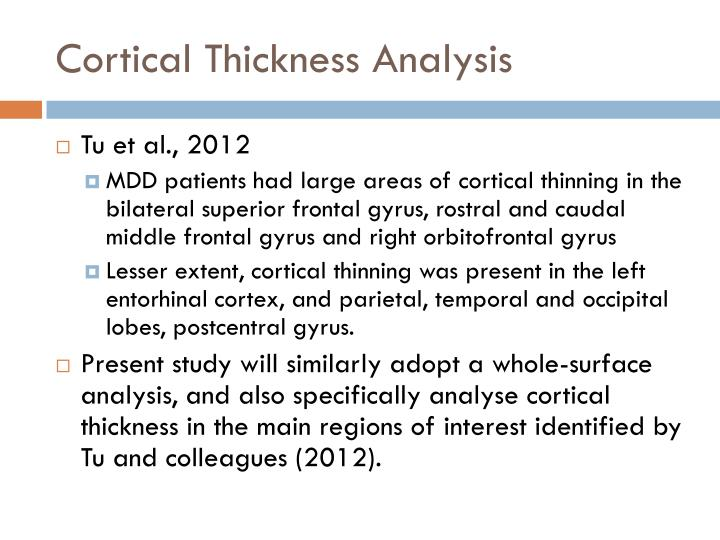 Cortical Thickness Analysis