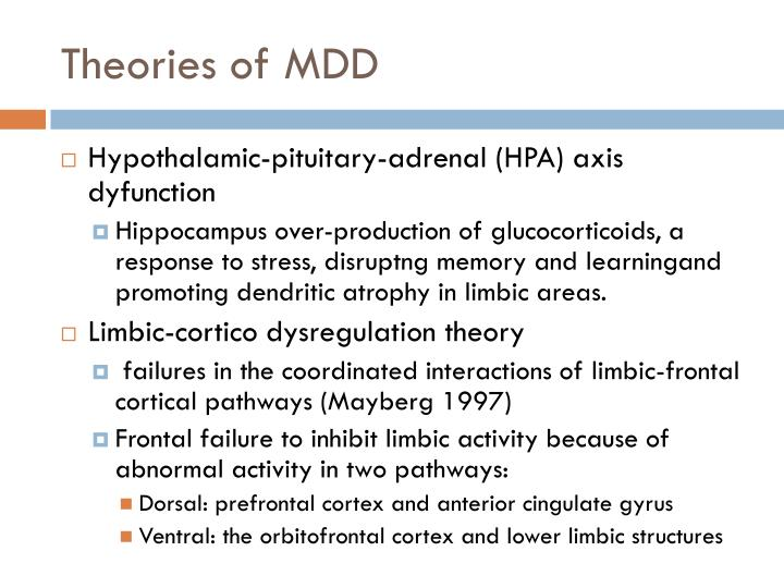 Theories of MDD