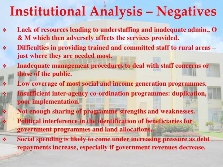 Institutional Analysis –