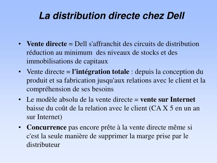 La distribution directe chez Dell