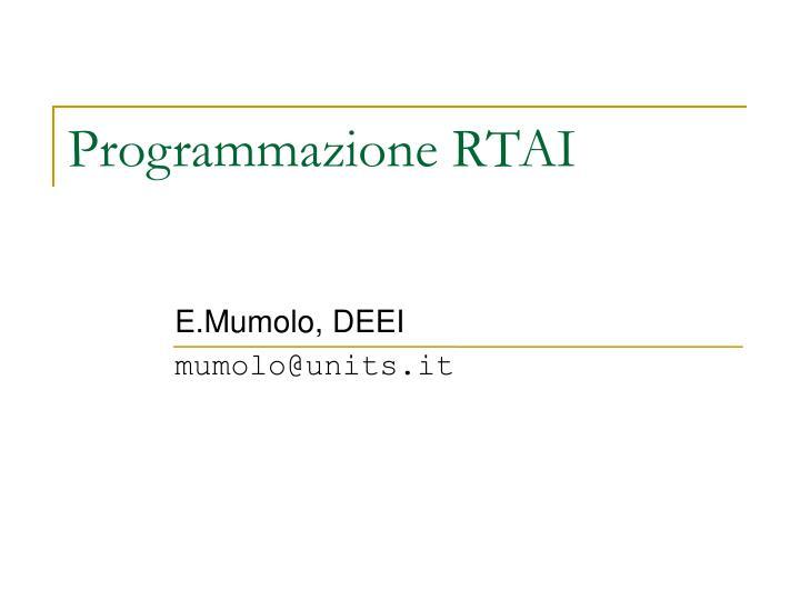 E.Mumolo, DEEI