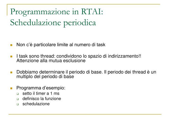 Programmazione in RTAI: