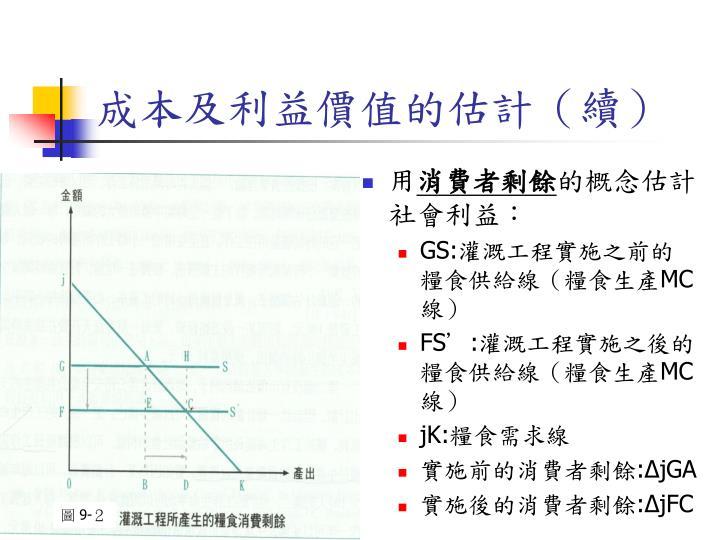 成本及利益價值的估計(續)