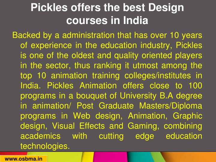Pickles offers the best design courses in india1