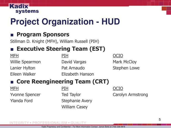 Project Organization - HUD