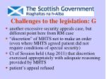challenges to the legislation g