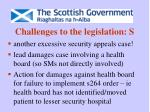 challenges to the legislation s