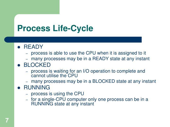 Process Life-Cycle