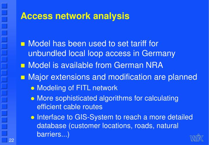 Access network analysis