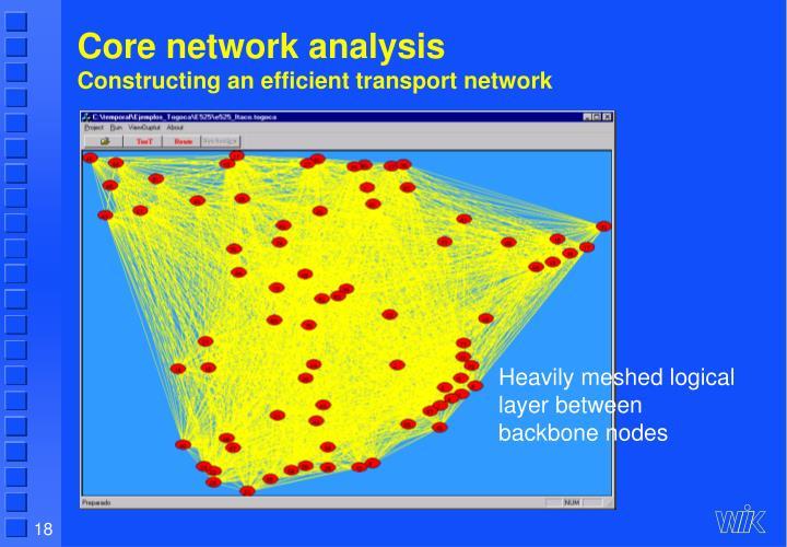 Core network analysis