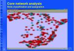 core network analysis node classification and assignation