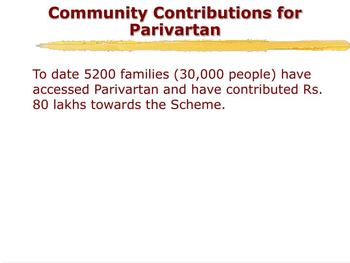 Community Contributions for Parivartan