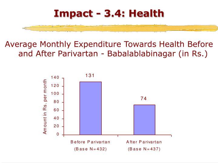 Impact - 3.4: Health