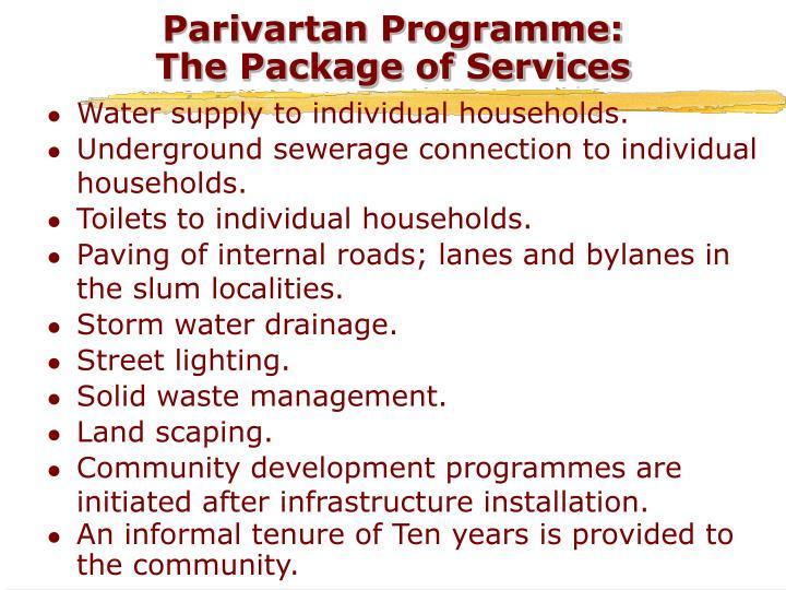 Parivartan Programme: