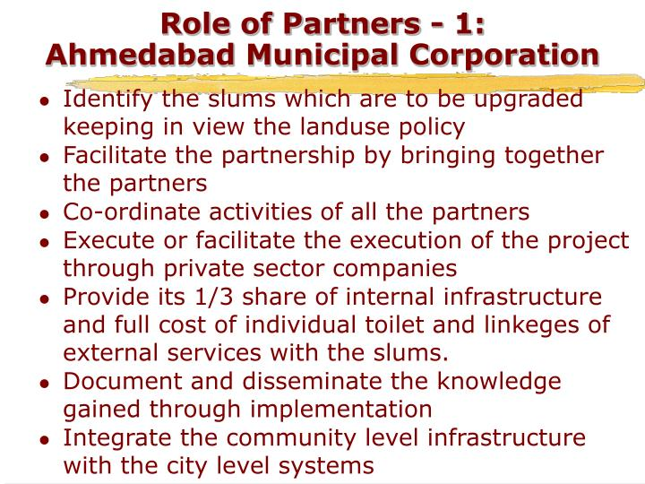 Role of Partners - 1:
