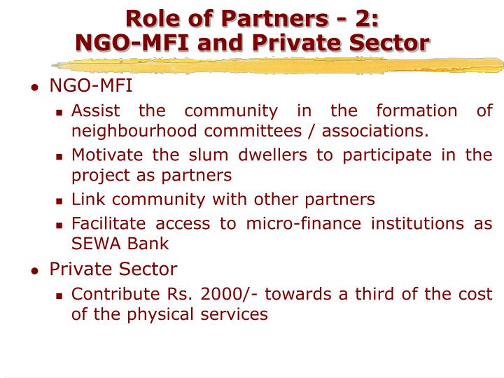 Role of Partners - 2: