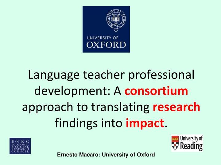 Language teacher professional development: A