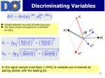 discriminating variables