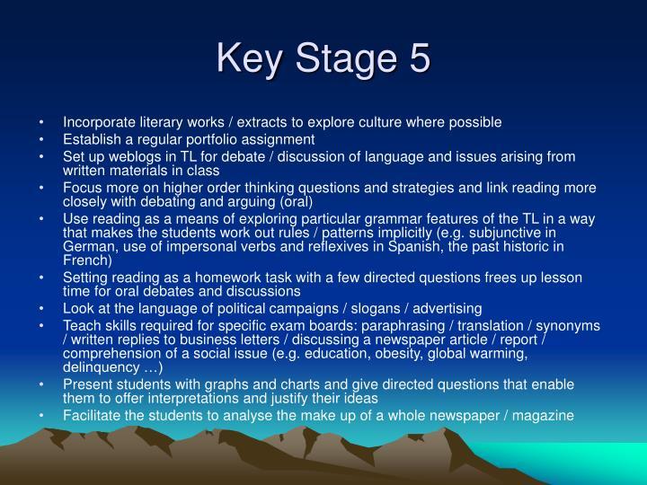 Key Stage 5