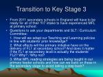 transition to key stage 3