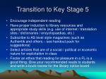 transition to key stage 5