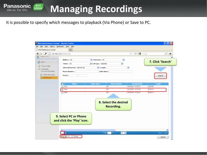Managing Recordings