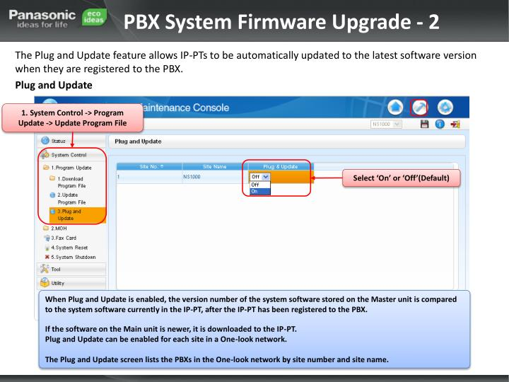 PBX System Firmware Upgrade - 2