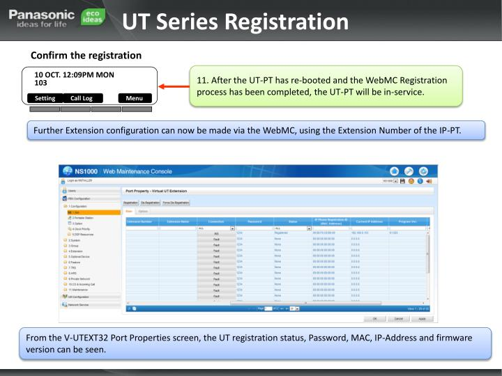 UT Series Registration