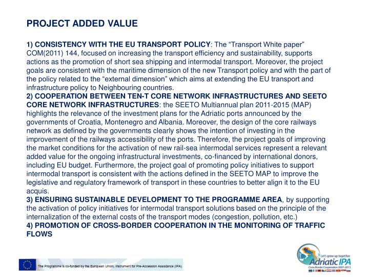 PROJECT ADDED VALUE