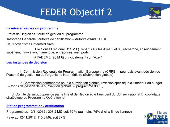 FEDER Objectif 2