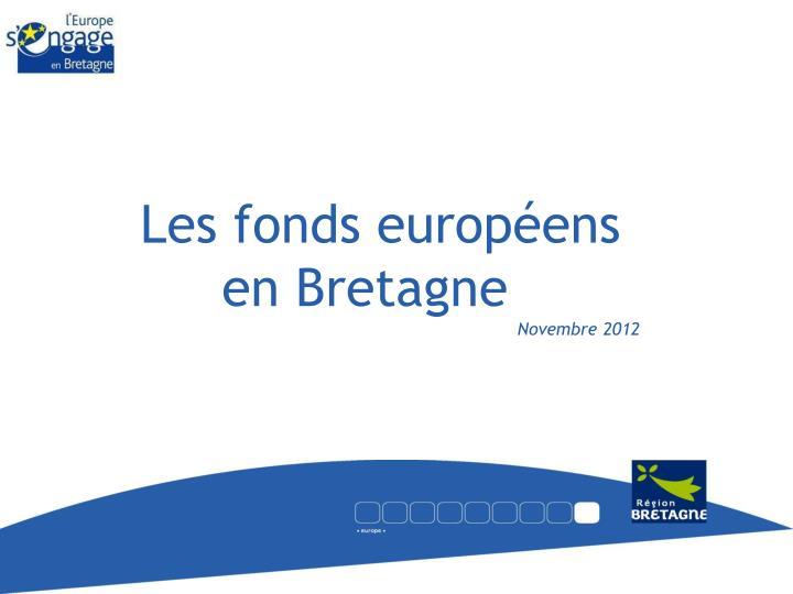 Les fonds européens