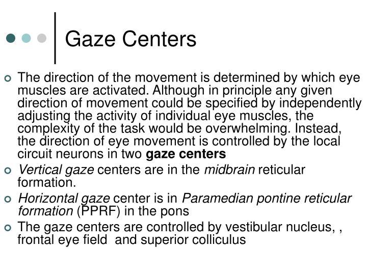 Gaze Centers