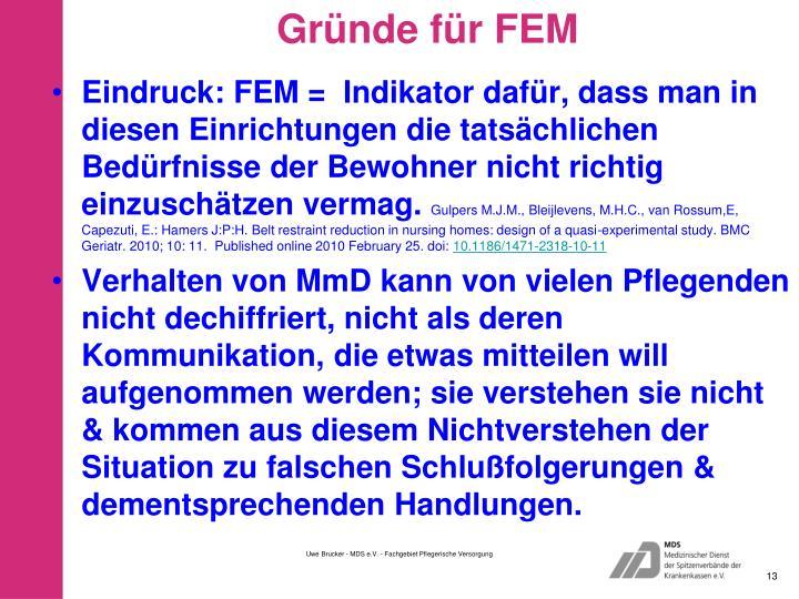 Gründe für FEM