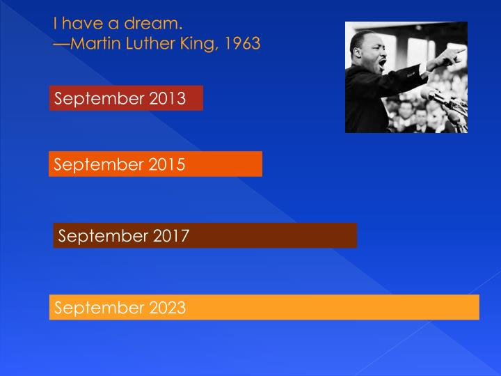 I have a dream.