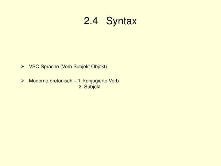 2.4 Syntax