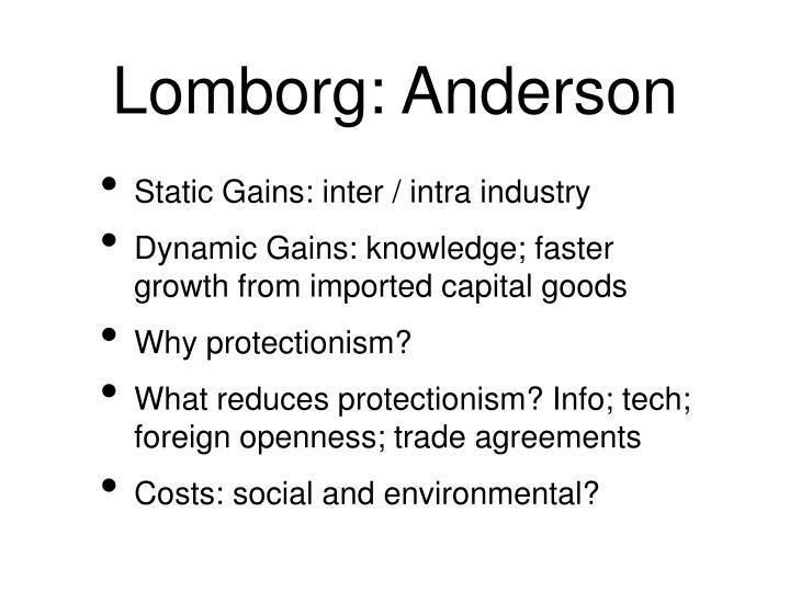 Lomborg: Anderson