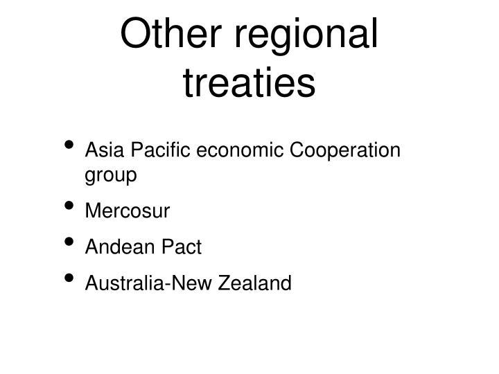 Other regional treaties