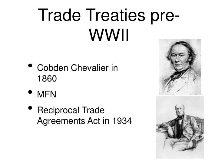 Trade Treaties pre-WWII