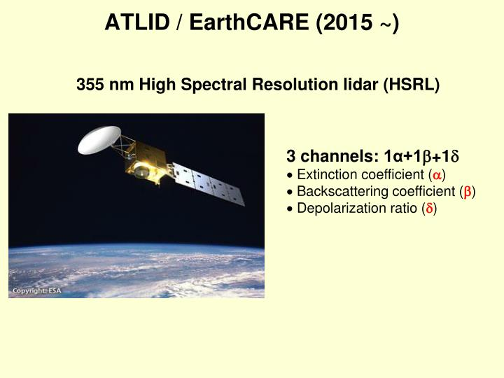 355 nm High Spectral Resolution lidar (HSRL)