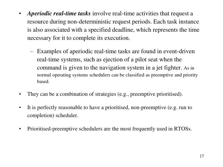 Aperiodic real-time tasks