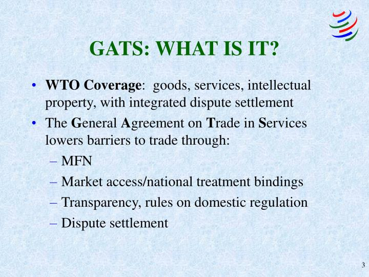 GATS: WHAT IS IT?