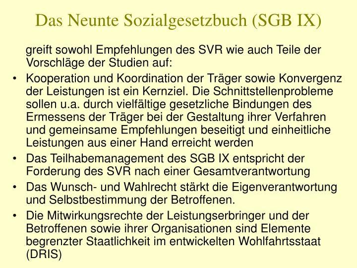 Das Neunte Sozialgesetzbuch (SGB IX)