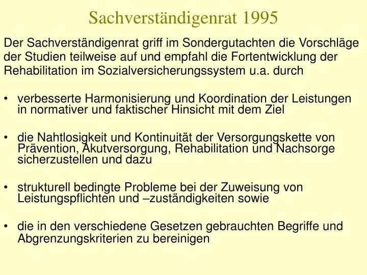 Sachverständigenrat 1995