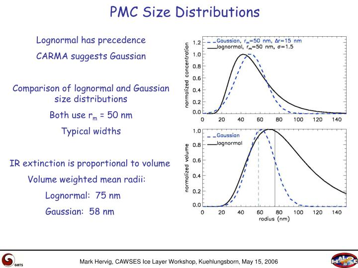 PMC Size Distributions