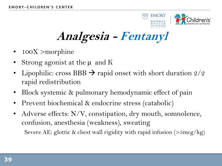 Analgesia -