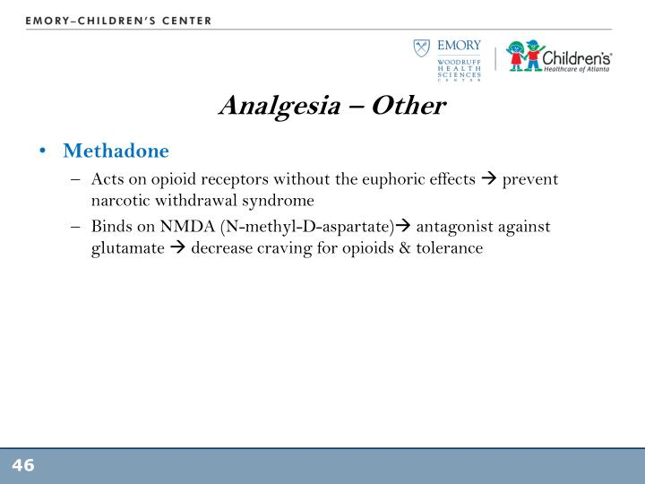 Analgesia – Other