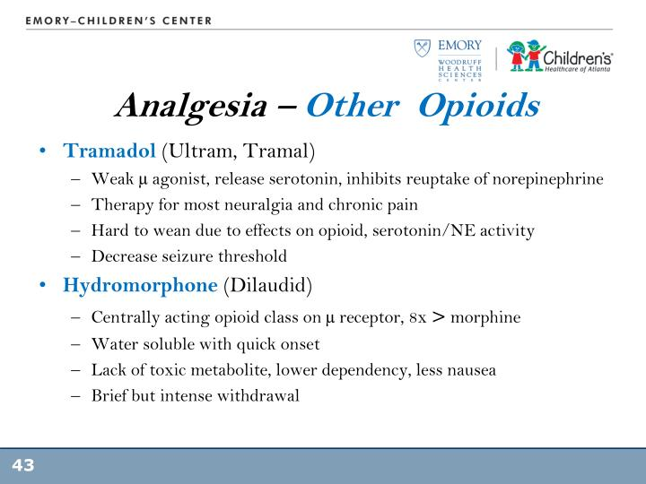 Analgesia –