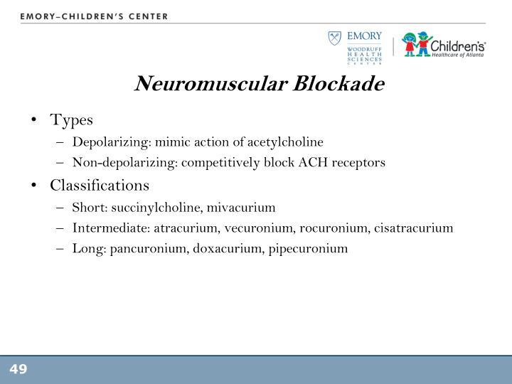 Neuromuscular Blockade