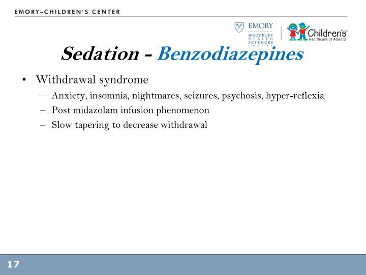 Sedation -