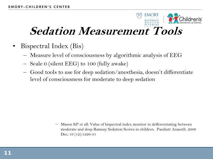 Sedation Measurement Tools
